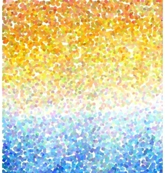 Abstract mosaic background sea and sun vector