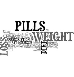 A pill a day approach to weight loss text word vector