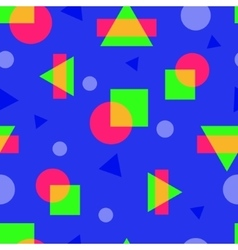 abstract colorful geometric seamless pattern in vector image