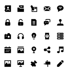 Advertising and media icons 2 vector