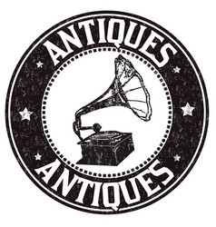 Antiques stamp vector