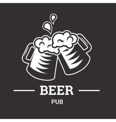 Beer insignia badge vector image
