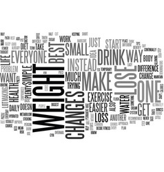 best way to lose weight text word cloud concept vector image vector image