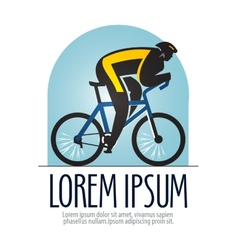 bicycle racing logo design template sports vector image