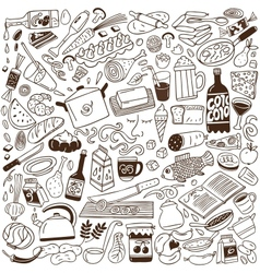 Cookery doodles vector image