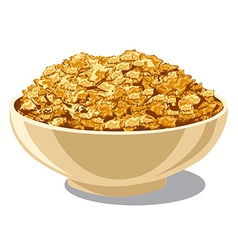 cornflakes in bowl vector image vector image