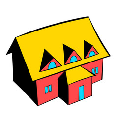 cottage icon icon cartoon vector image