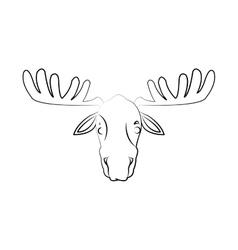Deer cartoon icon vector