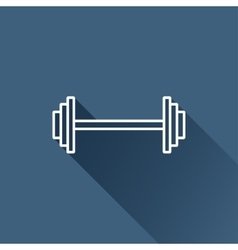 dumbbell icon Eps10 vector image vector image