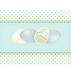 Easter egg panel background vector image vector image