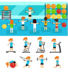 fitness infographic elements flat vector image vector image