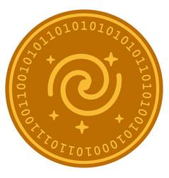 Galaxy stars digital coin vector