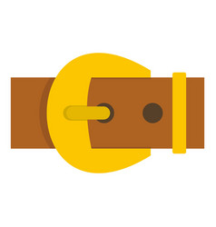 Gold buckle belt icon isolated vector
