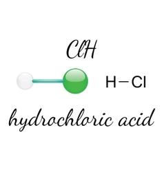HCl hydrochloric acid molecule vector image vector image