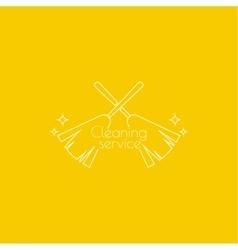 icon hand brooms vector image vector image