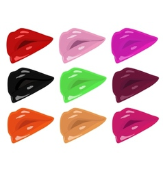 lips in different colors vector image