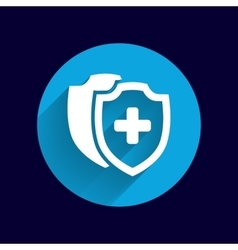 Medical Shield Icon shield flat health vector image vector image