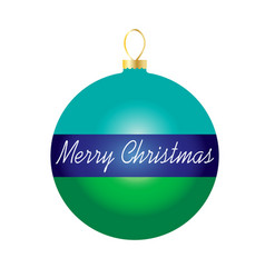 Merry christmas on striped ornament vector