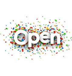 Open sign vector