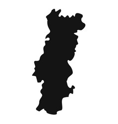 portugal map icon simple style vector image