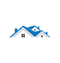 roof home business finance logo vector image vector image