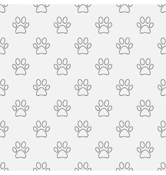 Simple dog paw pattern vector