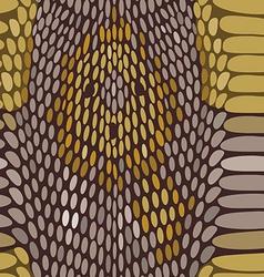 Snake python skin texture seamless pattern vector