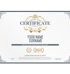 Stock certificate template vector image