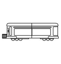 Train transport wagon traditional outline vector