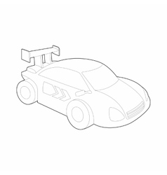 Race car for rally icon outline style vector