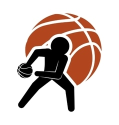 Pictogram player and basketball design vector