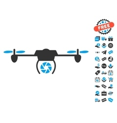 Shutter spy airdrone icon with free bonus vector
