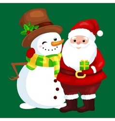 Merry christmas and happy new year friends santa vector