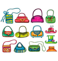 lady purses vector image