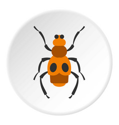Spotted bug icon circle vector