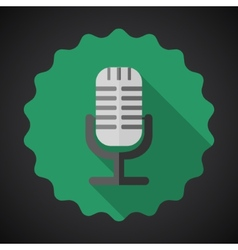 Music mic microphone flat icon vector