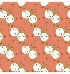 Rhythmic design plant strawberries on a pink vector image
