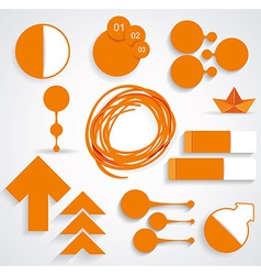 Set of business infographic elements vector