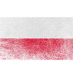 Flag of poland with old texture vector