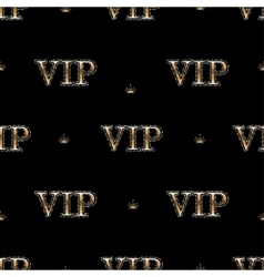 Seamless pattern with golden text vip vector