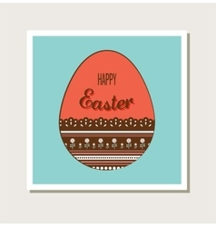 Easter card with decorated egg vector