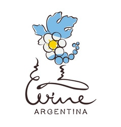 Logotype sign - wine from argentina vector