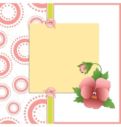 Mothers day postcard vector