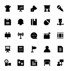 Advertising and media icons 3 vector
