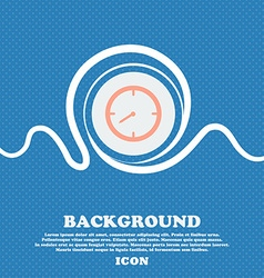 Timer sign icon stopwatch symbol blue and white vector