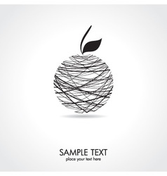Abstract apple card vector