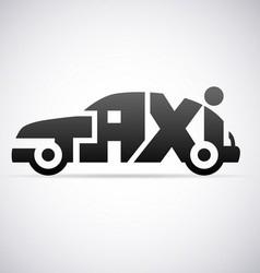 Automobile taxi logo design template vector image