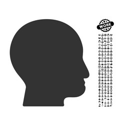 Bald head icon with people bonus vector