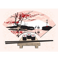 ceremony sushi vector image vector image