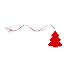 Christmas tree red color vector image